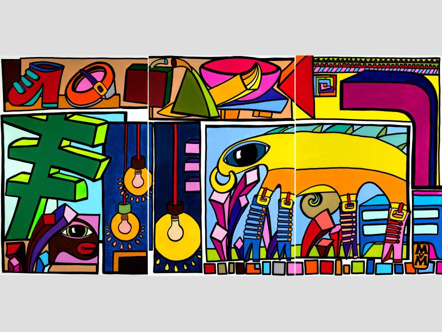 Munich Sparkleworld / Triptychon